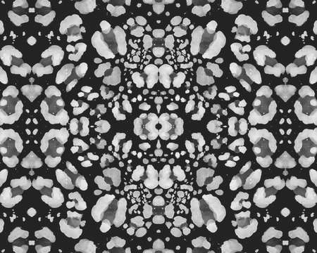 Seamless Leopard Repeat. Abstract Jaguar Skin. Black Camouflage Tropical Ornament. Fabric Design with Giraffe Spots. Leopard Texture. Gray Graphic Panther Print. Seamless Leopard Pattern.