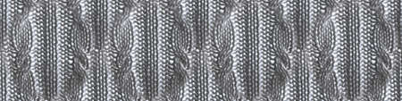 Brown Threads Texture. Organic Knitting Pattern. Knitwear Xmas Background. Closeup Scandinavian Canvas. Threads Texture. Warm Cashmere. Grey Seamless Fabric. Knitted Threads Texture.