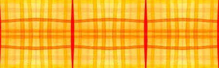 Orange Tartan Background. Watercolour Check Material. Color Traditional Squares for Kilt Print. Seamless Summer Tartan Background. Trendy Gingham Wallpaper. Autumn Fashion Tartan Background.