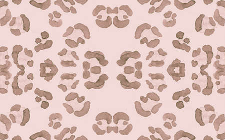 Brown Ocelot Rapport. Pink Trendy Panther Fur Texture. Graphic Camouflage Fabric Design. Seamless Spotted Tiger Wallpaper. Beige Ocelot Imitation. Retro Panther Skin Pattern. Nude Ocelot Artwork. Stock Photo