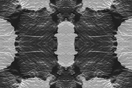 Watercolor Blots. Ink Textured Splash. Carelessly Spilled Paint on Craft Paper. Monochrome White and Grey Tie Dye Pattern. Old Grunge Fabric Design. Seamless Watercolor Blots.
