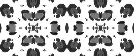 Seamless Cheetah Ornament. Graphic Tiger Fur. Black Watercolour African Repeat. Textile Design with Leopard Spots. Cheetah Wallpaper. Gray Graphic Cats Skin. Seamless Cheetah Background.