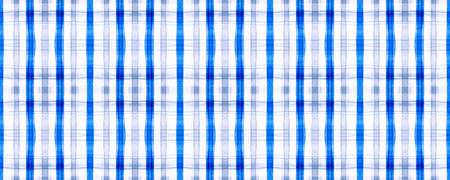 Grey Picnic Plaid. Watercolor Tartan Design. Seamless Abstract Checkered Tablecloth. English Repeat. Blue Picnic Plaid. Shirt Print. Irish Traditional Tweed. Stripes Textile. Woven Picnic Plaid.