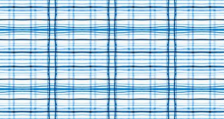 Plaid Fabric. White and Blue Check Texture. Seamless Scotland Twill. Vintage Gingham Flannel. Graphic Plaid Fabric Pattern. Geometric Square Tablecloth. Buffalo Shirt. Plaid Fabric. Reklamní fotografie