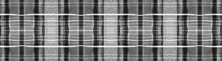 Black Buffalo Check. Watercolor Picnic Material. Wool Geometric Squares for Fabric Design. Seamless Buffalo Checks. Celtic Textured Background. Gray and White Modern Black Buffalo Check. Reklamní fotografie