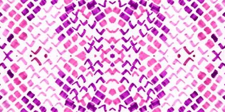 Seamless Snake Skin. Serpent or Phyton Animal Print. Jungle Safari Wallpaper. Pink and White Rapport. Handmade Distressed Cloth. Watercolor Snake Skin. 版權商用圖片