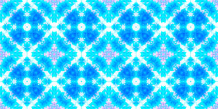 Water Color Textile Texture. Ink Textured Material Design. Blue and White Colors. Aquarelle Tie Dye Abstract Texture. Seamless Water Color Textile Pattern.