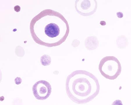 Scribble Circles Elements. Purple Radial Pattern. White Children Painting. Artistic Carpet Print. Watercolor Scribble Circle Wallpaper. Violet Happy Painting. Nude Circles Wallpaper.