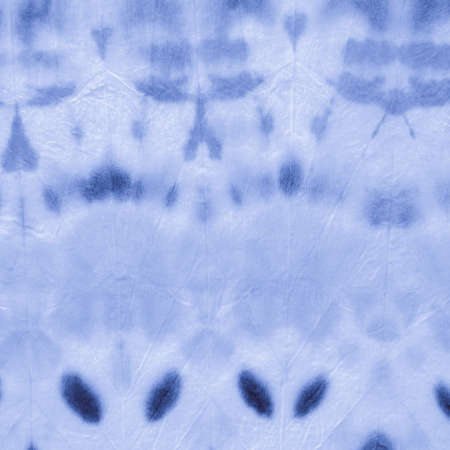 Marine Dirty Tie Dye. Broken Striped Print. Watercolor Abstract. Nautical Handmade Artwork. Batik Pattern. Broken Striped Print. Clouds Handmade Painting. Shibori Style.