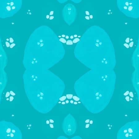 Watercolor Leopard Skin. Graphic Wild Fur. Camouflage Safari Background. Seamless Fabric Design. Blue Spots Pattern. Watercolour Jaguar Skin. Graphic Tiger Print. Watercolour Leopard Skin.