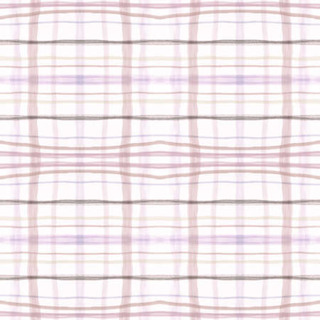 Plaid Pattern. Beige Picnic Fabric. English Textured Wool. Seamless Modern Blanket. Traditional Plaid Pattern. Graphic Stripes Tablecloth. Buffalo Twill. Check Tile. Pale Plaid Pattern.