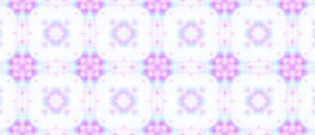 Azulejos Pattern. Aquarelle Geometric Kaleidoscope. Spanish Swimwear Design. Blue, Pink and White. Ornamental Ethnic Motif. Watercolor Azulejos Seamless.