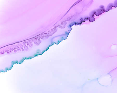 Ethereal Paint Pattern. Alcohol Ink Wave Wallpaper. Pink Creative Stains Painting. Sophisticated Color Marble. Ethereal Paint Texture. Liquid Ink Wash Background. Lilac Ethereal Water Pattern.