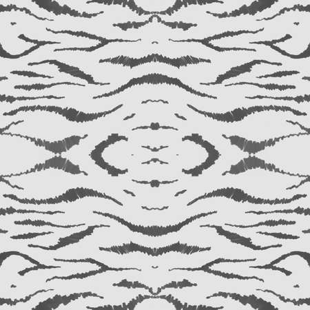 Seamless Zebra Pattern. Camouflage African Fur. White Fashion Wild Wallpaper. Safari Stripe Design. Zebra Texture. Gray Watercolour Africa Fur. Seamless Zebra Texture. Abstract Zoo Wallpaper. Фото со стока