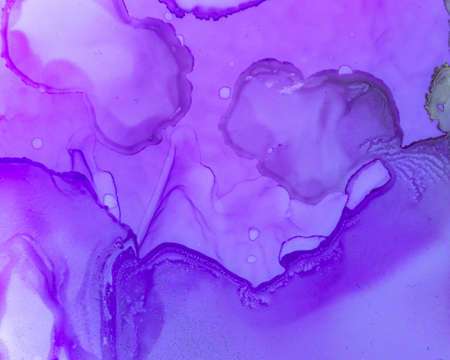 Ethereal Paint Texture. Alcohol Ink Wash Background. Purple Abstract Drop Canvas. Sophisticated Color Design. Ethereal Water Texture. Liquid Ink Wash Background. Pink Ethereal Water Pattern.