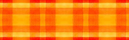 Summer Tartan Background. Watercolor Check Pattern. Retro Geometric Squares for Tile Design. Seamless Orange Tartan Background. Scottish Buffalo Wallpaper. Autumn Simple Tartan Background.