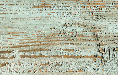 Blue Crack Background. Painted Wood Texture. Crackle Poster. Nature Break Crack Background. Abstract Hardwood. Brown Damaged Desk. Flake Design. Tree Material. Crack Background. Stock Photo