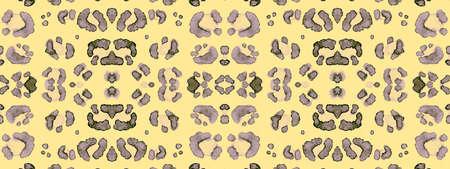 Seamless Leopard Artwork. Brown Camouflage Spots. Watercolour Safari Pattern. Vintage Fabric Design with Cats Print. Leopard Repeat. Watercolor African Texture. Leopard Background. Banco de Imagens
