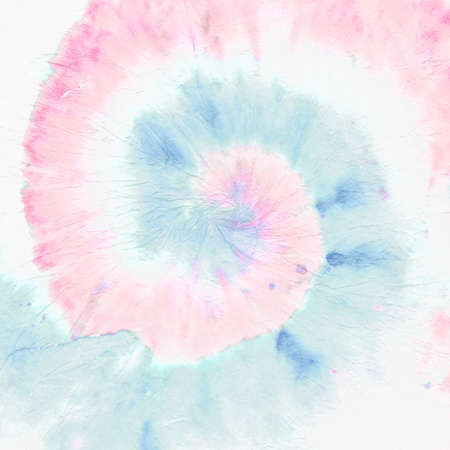 Purple Tie Dye Print. Rainbow Hippie Spiral. Colorful Circular Art Background. Grunge Dyed Circle. 1970s Effect. Tye Dye Round. Pink Hippie Textile. Abstract Dyed Fabric. Yellow Tie Dye Swirl.