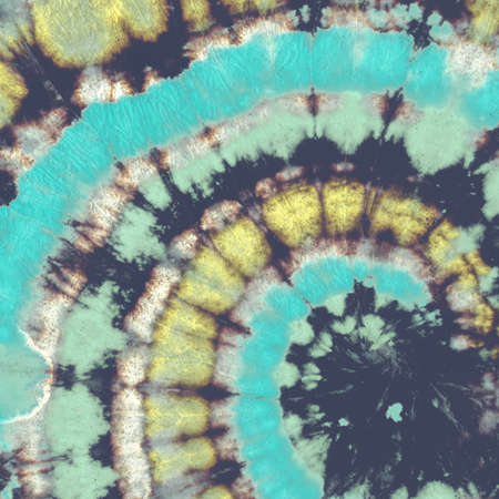 Gold Spiral Pattern. Tie Dye Fabric Circle. Grunge Background. Black Old Paper Roll. Cosmos Nebula Art Effect. Blue Spiral Abstract. Tie Die Shirt Design. Space Stars Art Effect. Spiral Texture. 免版税图像