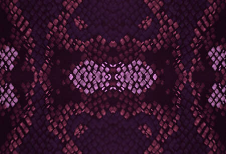 Seamless Predator Pattern. Pink and Black Colors. Exotic Fashion Illustration. Alligator Leather Wild Print. Grunge Effect Material. Watercolor Predator Pattern.