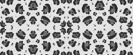 Seamless Cheetah Background. Abstract Cats Print. Grey Watercolour African Repeat. Fabric Design with Panther Spots. Cheetah Ornament. Gray Fashion Giraffe Print. Seamless Cheetah Wallpaper.