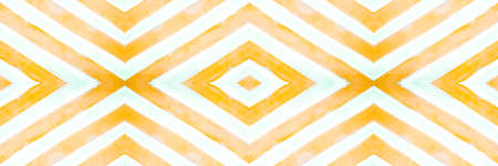 Ethnic Diamond Pattern. Hand Drawn Zigzags Background. Seamless Abstract Tribal Print. Traditional Squares Texture. Watercolor Ethnic Diamond. Rhombus Background. Ethnic Diamond. Stock Photo
