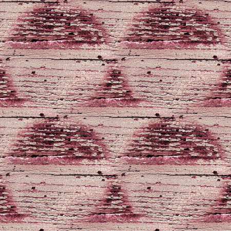 Wood Background Vintage. Painted Rustic Structure. Pink Aged Frame. Seamless Ancient Tree Wall. Red Wood Background Vintage. Cracked Distressed Design. Paint Texture. Grungy Material.