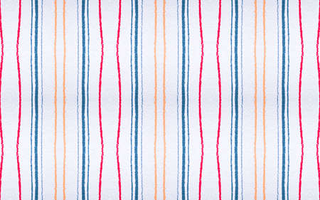 Graphic Strokes Texture. Blue and Orange Color Lines Decoration. Grunge Wall Repeat. Geometric Strokes Pattern. Handmade Stripes Wallpaper. Artistic Textile Repeat. Strokes Texture. 版權商用圖片