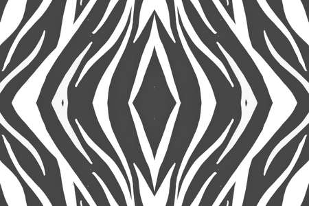 Seamless Zebra Stripes. Abstract Safari Design. Watercolor Tiger Fur. White Wildlife Ornament. Gray Zebra Pattern. Fashion Safari Design. Watercolor Tiger Skin. Seamless Zebra Repeat.