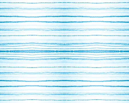 Nautical Grunge Texture. Seamless Watercolor Horizontal Stripe Background. Graphic Teal Fabric Print. Navy Grunge Pattern. Brush Paint Tribal Lines. Textile Print. Seamless Grunge Texture.