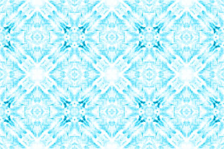 Tunisian Tile. Geometric Bohemian Wallpaper. Artistic Repeating Tribal Fabric Design. Blue and White Colors. Ethnic Ornament. Seamless Tunisian Tile Pattern.