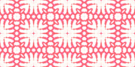 Seamless Watercolor Geometry. Aquarelle Traditional Print. Decorative Chevron Design. Italian or Arabesque Tile. Red and White Colors. Watercolor Geometry.