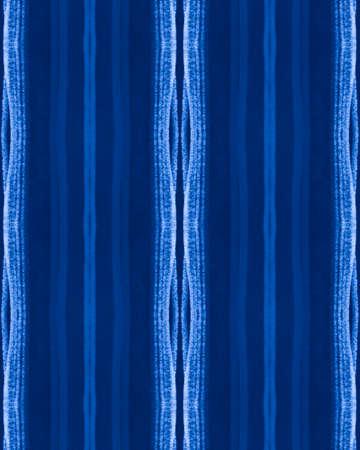Blue Grunge Texture. Horizontal Stroke Wallpaper. Fashion Indigo Textile Design. Blue Seamless Grunge Pattern. Hand Drawn Ethnic Lines. Artistic Fabric Print. Geometric Seamless Grunge Pattern.