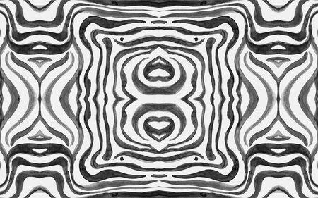 Seamless Zebra Stripes. Abstract Animal Texture.