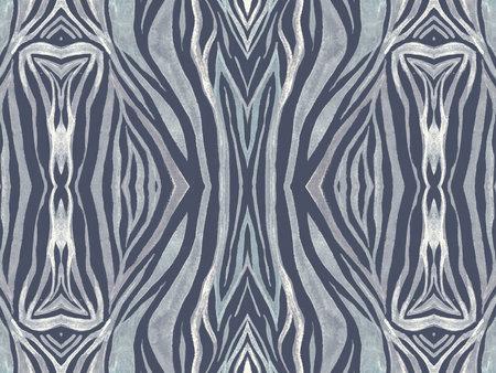 Seamless Zebra Fur Texture. Watercolor Cheetah
