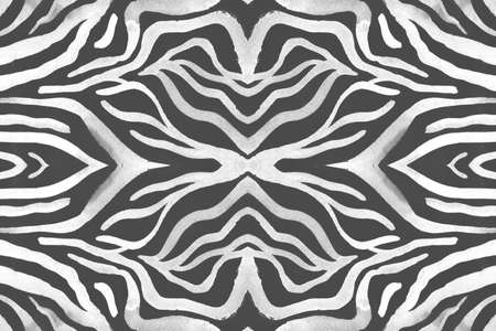 Seamless Zebra Stripes. Fashion Animal Banner. 版權商用圖片