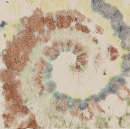 Texture Tie Dye. Artistic Watercolor Design. Abstract Painting. Green Tye Die Style. Circular Swatch. Hippie Color Shirt. Old Circle Pattern. Spiral Backdrop. Batik Texture Tie Dye.