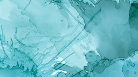 Watercolor Paint Background. Pastel Fluid Liquid. Blue Cloud Gradient Abstraction. Green Pastel Fluid Design. Blue Ocean Modern Abstraction. Watercolor Color Wallpaper. Alcohol Inks Pattern.