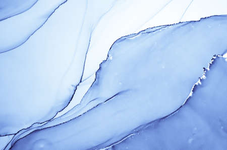 Ocean Ink Paint. Oil Flow Wallpaper. Indigo Abstract Print. Ink Painting. Watercolour Modern Wall. Deep Geode Art. Winter Background. Navy Effect. Blue Fluid Design. Liquid Ink Paint.