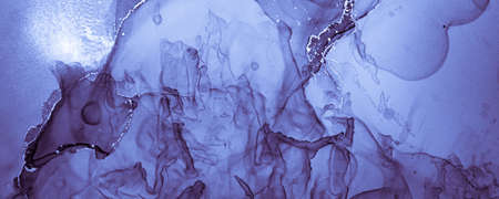 Navy Ink Paint. Oil Wave Background. Blue Alcohol Effect. Ink Painting. Watercolor Creative Splash. Light Geode Art. Winter Wallpaper. Airy Pattern. Indigo Art Design. Marble Ink Painting.