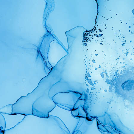 Ink Colours Mix Water. Art Wave Background. Blue Alcohol Effect. Ink Colours Mix. Ocean Deep Pattern. Indigo Fluid Painting. Ethereal Grunge Drops. Oil Abstract Design. Liquid Mixing Inks.