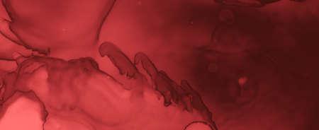 Grungy Blood Background. Red Fluid Banner. Horror Splatter Black. Watercolor Maroon Texture. Blood Background. Abstract Fluid Wallpaper. Horror Spatter Black. Watercolour Blood Background.