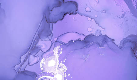 Purple Liquid Paint. Gray Grey Alcohol Oil Wallpaper. Marble Abstract Texture. Creative Liquid Paint Waves. Sophisticated Flow Wall. Luxury Acrylic Art Pattern. Fluid Liquid Paint Waves.