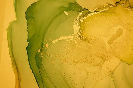 Gold Fluid Art. Marble Abstract Illustration. Alcohol Ink Design. Liquid Texture. Fluid Art. Grunge Wave Background. Glitter Sophisticated Paper. Golden Acrylic Oil Wallpaper. Abstract Fluid Art.