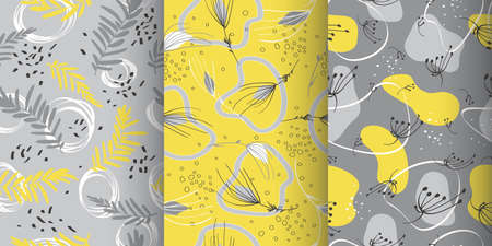 Doodle memphis seamless pattern. Vector fashion spring print. Art abstract texture. Doodle flower illustration.