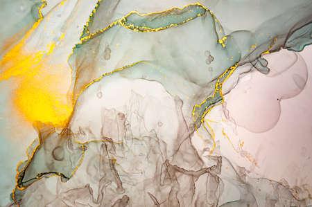 Luxury Abstract Background Liquid. Alcohol Ink Фото со стока