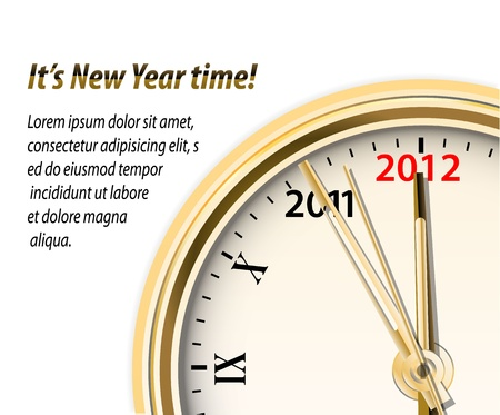 new year counter: Vector New Year time