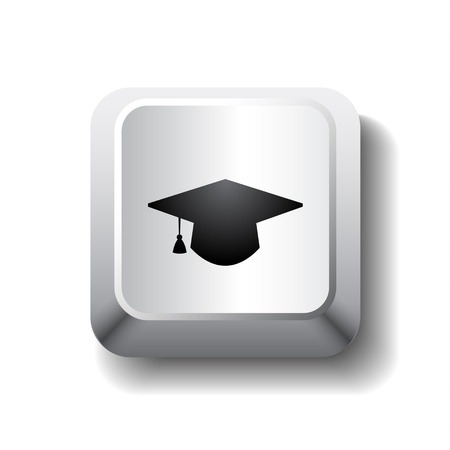 Vector graduation cap symbol Illustration