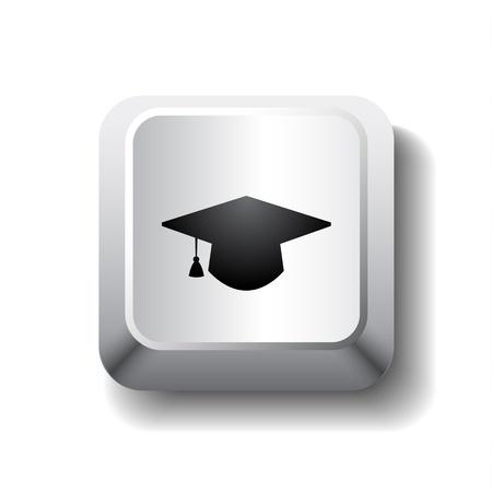 birrete: Vector símbolo de graduación de la tapa